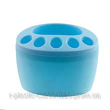 """Підставка для зубних щіток """"R-plastic"""" блакитна"""