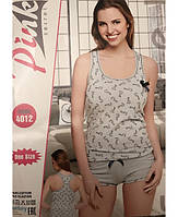 Женская пижама летняя с шортами и майкой