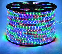 Светодиодная лента LED 3528 RGB 100m 220V бухта цветные диоды