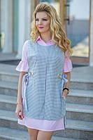 Платье двойка, комплект состоит из двух частей - рубашки и накидки с принтом.