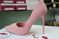 Туфли женские замш пудра,пинк,нежнорозовый