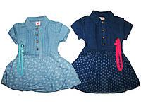 Платье джинсовое для девочек, размеры 104116,122, Glo-story, арт. GYQ-8512