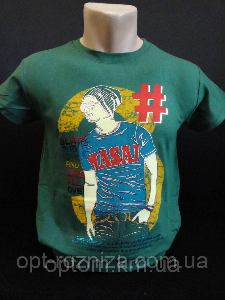 Однотонные футболки с рисунком для мальчиков.