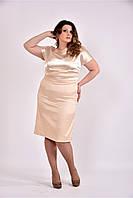 Яркое нарядное летнее женское платье батал  770479, размер 42, 44, 46, 48, 50, 52, 54, 56, 58, 60.