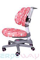 Детское компьютерное ортопедическое кресло растишка Ergoway M300-D Pink