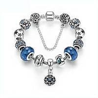 Браслет женский 6337 Пандора (все размеры) Pandora с шармами