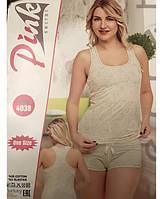 Женский комплект для дома и сна с шортами и майкой