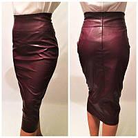 Женская кожаная юбка у-2112