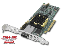 ASR-2045/128 (PCI-E x8, LP) Single 0+4 портовый SAS Host RAID контроллер (внутр.: 0x SFF-8087; внешн.: 1x SFF-