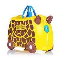 Оригинал.  Чемодан детский на колесах Жираф Джери Trunki TRU0265