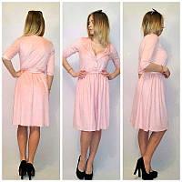 Стильное замшевое платье н-12134