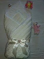 Плед- конверт  на выписку Фантазия молоко, весна\осень, фото 1