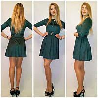 Стильное замшевое платье к-12135