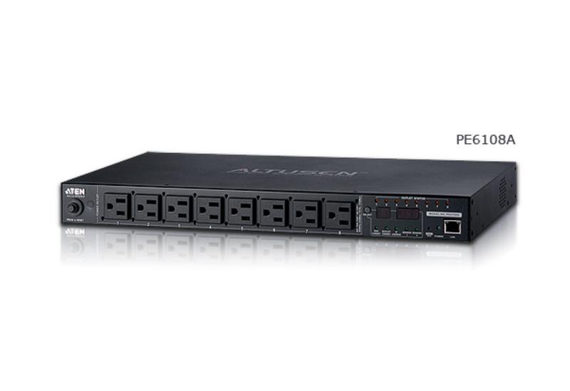 """PE6108G 19 """"1U Блок распределения электроэнергии 10А [ECO PDU] 8x C13; ALTUSEN"""