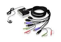 CS692 2-портовый KVM-переключатель аудио-видео USB HDMI