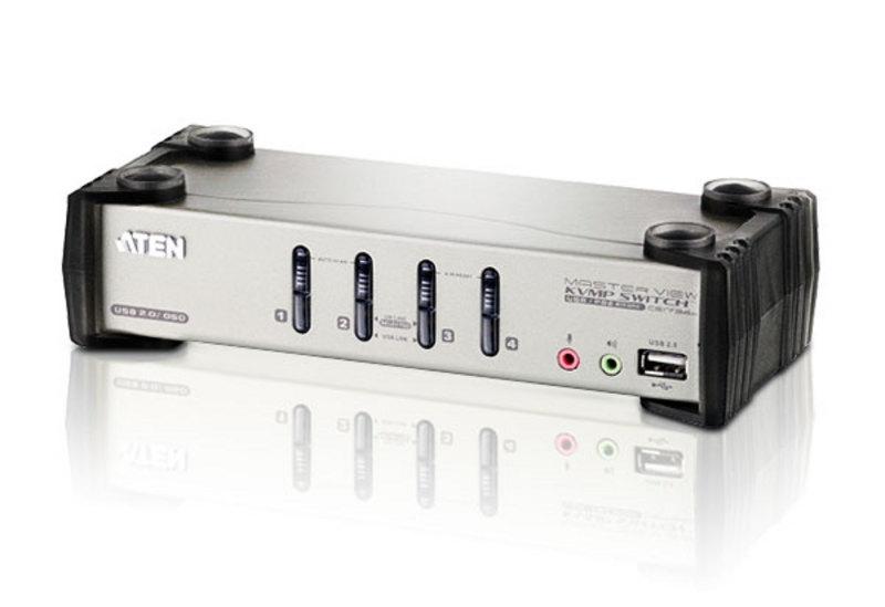 CS1734B, 4-портовий USB / PS / 2 KVMP переключатель, поддержка аудио, серия MasterView, ATEN.