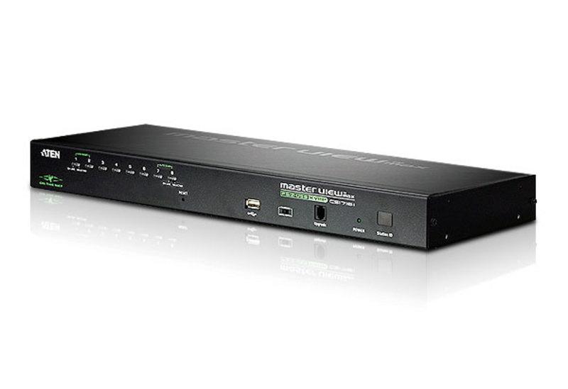 CS1708i 1U 8-портовый USB-PS / 2 IP KVM каскадируемый переключатель, OSD, ATEN.