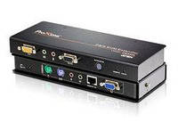 CE350 KVM-удлинитель/ Усилитель / Extender, VGA / SVGA + KBD & MOUSE PS / 2 + звук + RS232, 150 м., С KVM-шнур