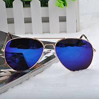 Очки капли Aviator солнцезащитные зеркало Violet G
