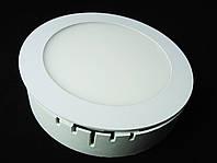 Светильник накладной LED 12W круг 3000К Пластик