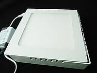 Светильник накладной LED 12W квадрат 3000К Пластик
