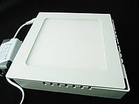 Світильник накладної LED 12W квадрат 3000К Пластик Теплий білий