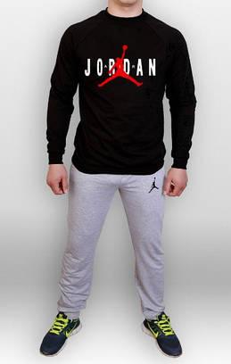 Спортивный костюм Jordan серый черная толствка (люкс копия)  продажа ... d6d8e6b2008