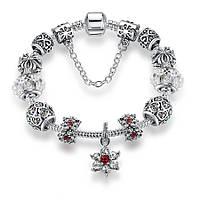 Браслет женский 6347 Пандора (все размеры) Pandora с шармами