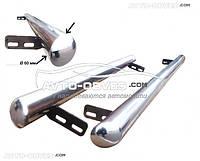 Защита боковых порогов для Mitsubishi Pajero Sport I Ø60 мм