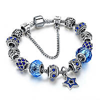 Браслет женский 6366 Пандора (все размеры) Pandora с шармами