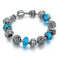 Браслет женский 6364 Пандора (все размеры) Pandora с шармами