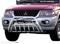 Передняя защита на Mitsubishi Pajero Sport I