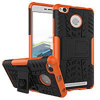 Чехол Xiaomi Redmi 3s / 3 pro Противоударный Бампер оранжевый
