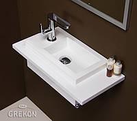 Столешница белая + раковина UMJ-400x220 KLIF