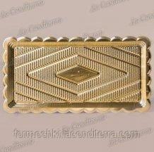 Поднос прямоугольный золотой «Deco» (30x16 см)