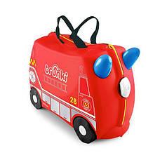 Оригинал.  Чемодан детский на колесах Frank the Fire Truck TRU0254