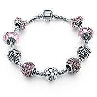 Браслет женский 6330 Пандора (все размеры) Pandora с шармами