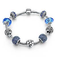Браслет женский 6363 Пандора (все размеры) Pandora с шармами