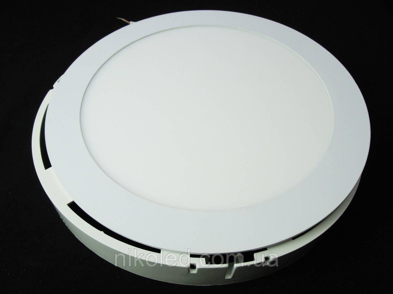 Світильник накладної LED 18W коло 4000К,3000К пластик