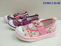 Текстильная обувь для девочек, размеры 25-30., арт. GY605-2