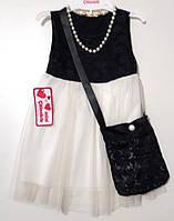 Платье детское с сумочкой