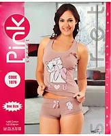 Женская пижама с шортами с кошкой Мари