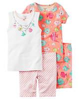 Набор из 2-х хлопковых пижам Мамина рыбка Картерс 4-Piece Snug Fit Cotton PJs 5Т 105-110 см