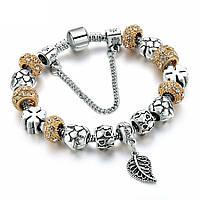 Браслет женский 6388 Пандора (все размеры) Pandora с шармами