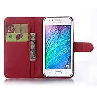 Чехол для Samsung Galaxy J5 2015 J500 книжка кожа PU красный