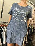 Платье летнее джинсовое легкое