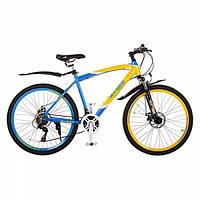 Велосипед спортивный 26 дюймов EXPERT Patriot синий