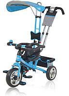 Трехколесный велосипед Turbo Trike blue с прямой крышей 5362