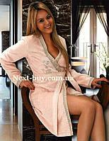 Женский халат махровый Maison D`or Paris Sidney с вышивкой