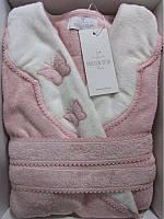 Женский халат бамбуковый Maison D`or Paris Dina Monique бабочки розовый